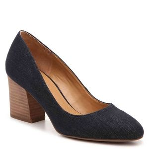 Franco Sarto Optimum Denim Block Heel Pumps Heels